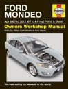 Haynes Workshop Manual Ford Mondeo Petrol & Diesel (Apr 07-12) 07 to 61